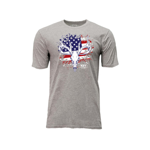 Men's KEY American Hunter Tee Cotton Polyester Crew Neck Taped seams