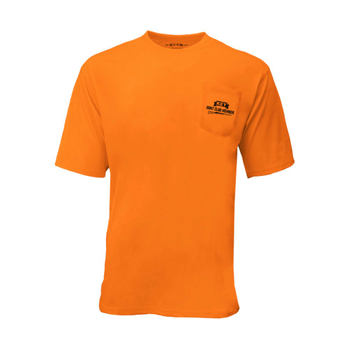 KEY Rifle Club Enhanced Visibility Boost Tee Hi-Vis Cotton Polyester Left Chest Pocket Taped Seams