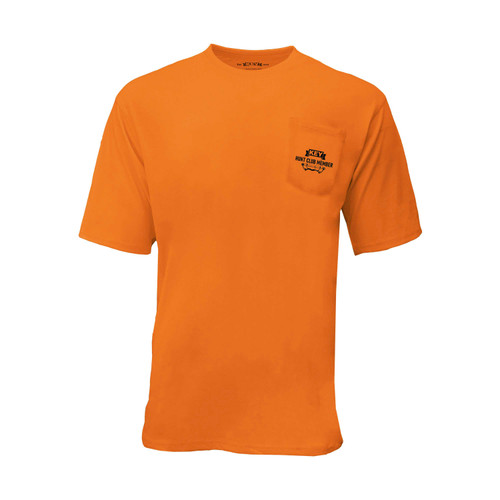 KEY Bow Club Enhanced Visibility Boost Tee Hi-Vis Cotton Polyester Left Chest Pocket Taped Seams