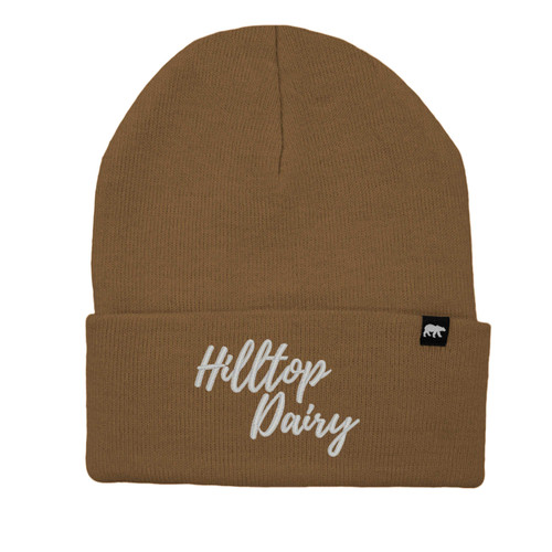 Hilltop Dairy Logo Beanie Acrylic Knit Thinsulate Insulation