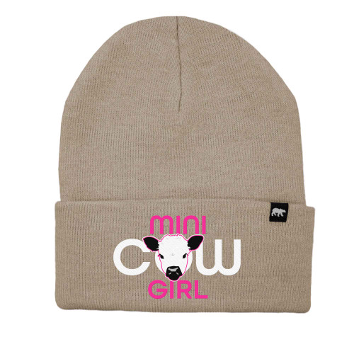 Mini Cow Girl Logo Beanie Acrylic Knit Thinsulate Insulation
