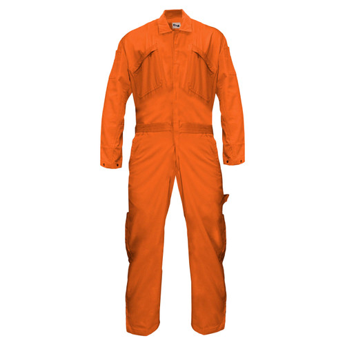 deluxe unlined coverall cotton twill relaxed fit bi-swing back triple needle stitching water stain repellent