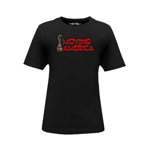 Kid's Moving America Logo Tee Cotton Polyester Crew Neck Taped Seams