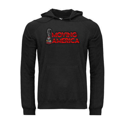 Moving America Logo Hoodie Unisex Ultra-Soft Cotton Polyester Kangaroo Pocket