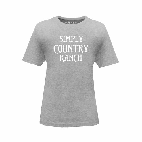 Kid's Simply Country Ranch  Logo Tee Cotton Polyester Crew Neck Taped Seams