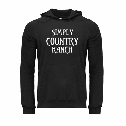 Simply Country Ranch Logo Hoodie Unisex Ultra-Soft Cotton Polyester Kangaroo Pocket