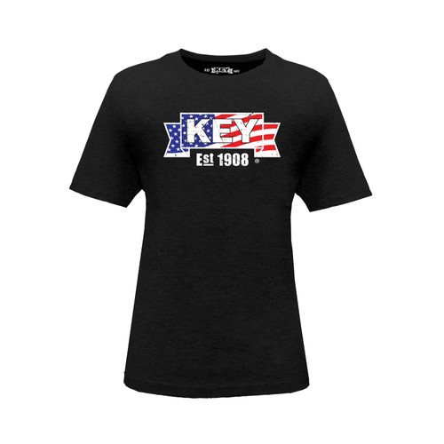 Kid's American KEY  Tee Cotton Polyester Crew Neck Taped Seams