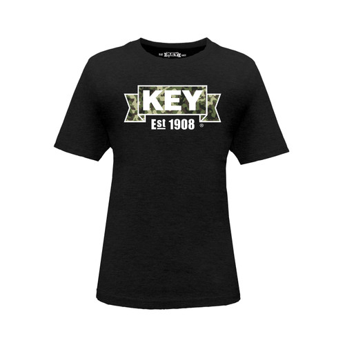 Kid's KEY Camo Tee Cotton Polyester Crew Neck Taped Seams