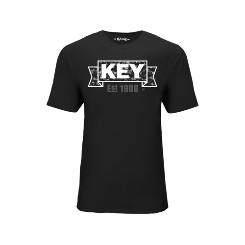 Men's KEY DigiCam Tee Cotton Polyester Crew Neck Taped seams