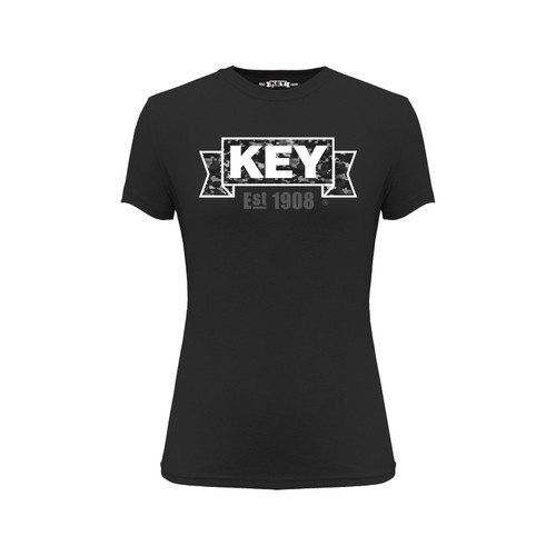 Women's KEY DigiCam Tee Cotton Polyester Crew Neck Taped seams
