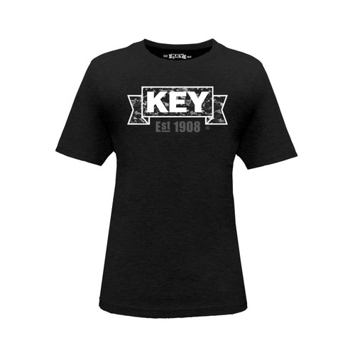 Kid's KEY DigiCam Tee Cotton Polyester Crew Neck Taped Seams