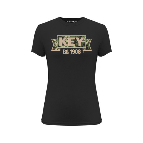 Women's KEY Sand Camo Tee Cotton Polyester Crew Neck Taped seams