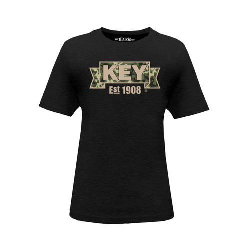 Kid's KEY Sand Camo Tee Cotton Polyester Crew Neck Taped Seams