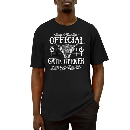 Men's Simply Gate Opener Tee Cotton Polyester Crew Neck Taped seams