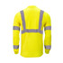 Hi-Visibility Long Sleeve T-Shirt Pocket ANSI Class 3 ISEA 107-2015 Compliant Moisture Wicking Relaxed Reflective