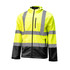Crawford Rip Stop Hi-Visibility Jacket Polyester Fleece Water Resistant Three Piece Hood Napoleon Pocket Reflective Taping ANSI