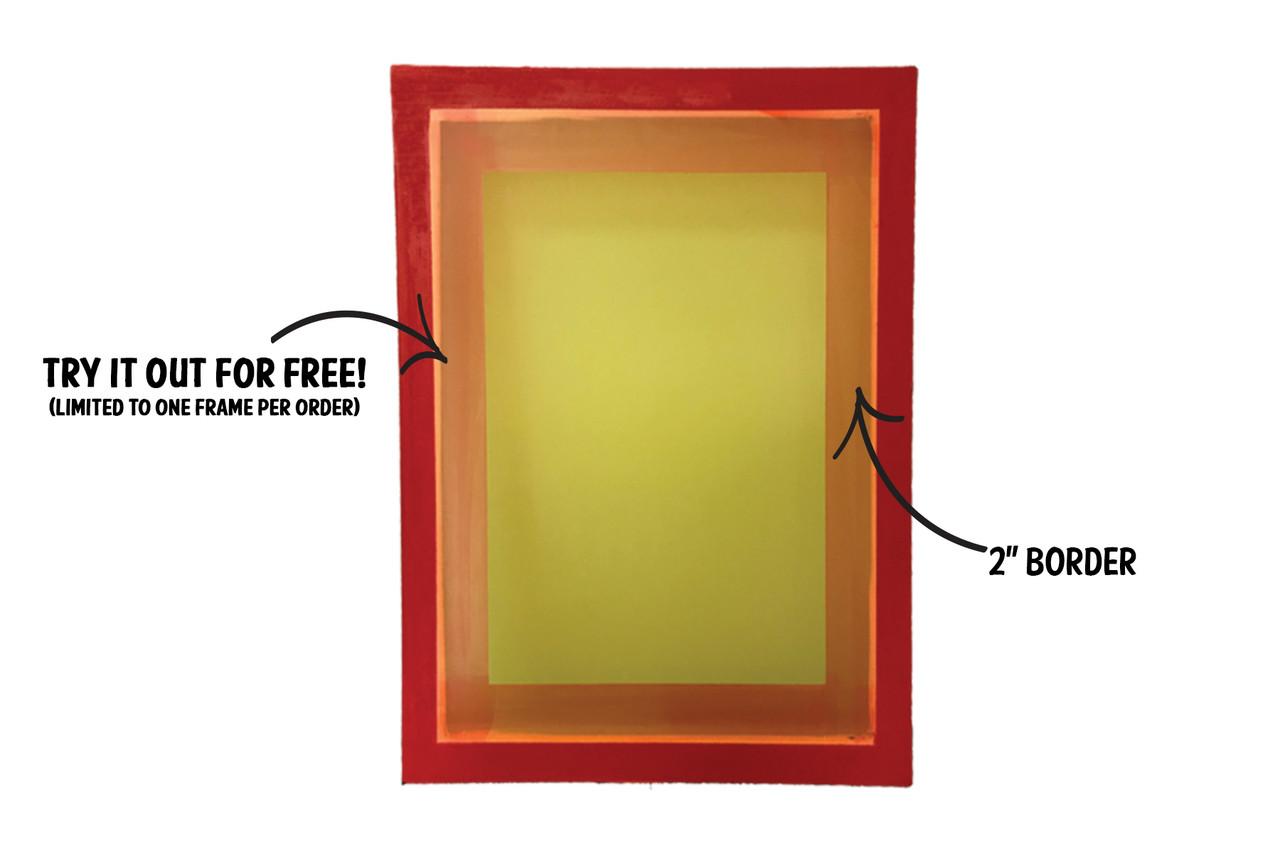 Screen Printing Aluminum Frames Permanent BLockout
