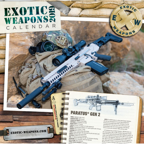 2019 Exotic Weapons Gun Calendar