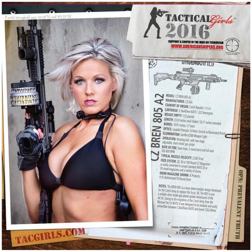 2016 Tactical Girls Gun Calendar