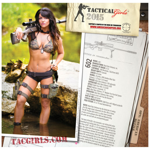 2015 Tactical Girls Gun Calendar