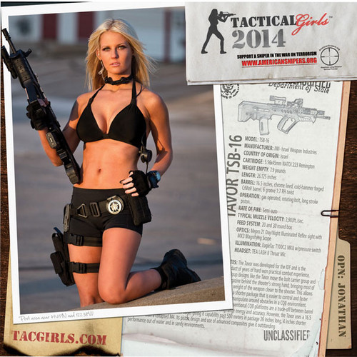 2014 Tactical Girls Gun Calendar