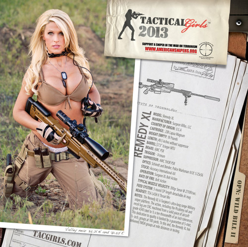 2013 Tactical Girls Gun Calendar