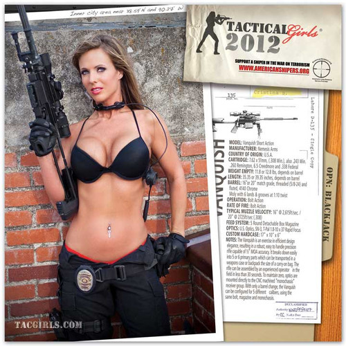2012 Tactical Girls Gun Calendar