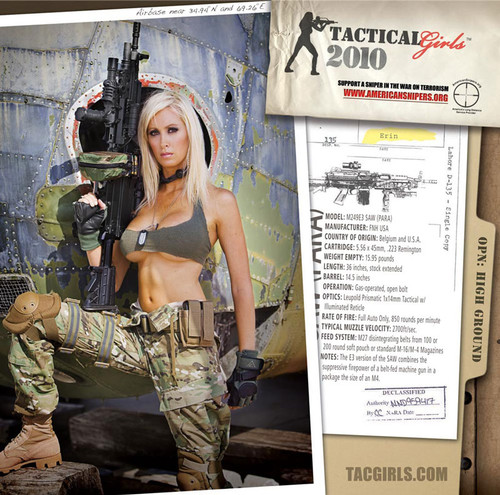 2010 Tactical Girls Gun Calendar