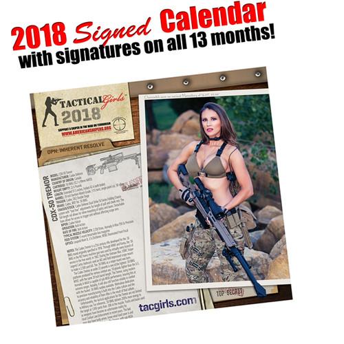 2018 Tactical Girls Gun Calendar-Signed!