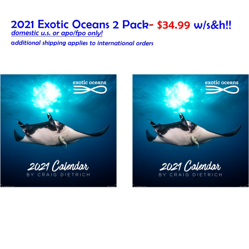 TWO PACK 2020  Exotic Oceans- $34.99 with U.S./APO/FPO S&H