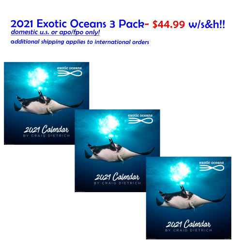 THREE PACK Exotic Oceans- $44.99 with U.S/APO/FPO/DPO S&H