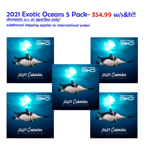 FIVE Pack Exotic Oceans $54.99 w/U.S./APO/FPO/DPO S&H