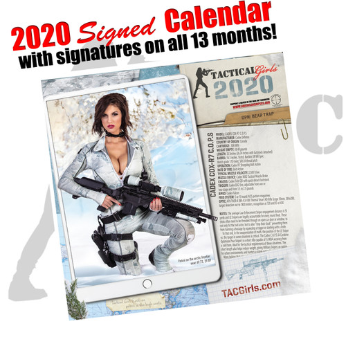 Signed Tactical Girls Calendar