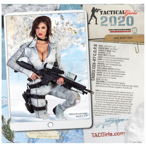 2020 Tactical Girls Gun Calendar