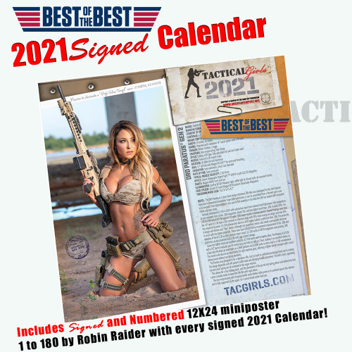 2021 Tactical Girls Gun Calendar-Signed!