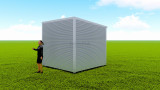 Basic backyard pod kit 3m x 3m flat-pack