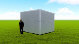Basic backyard pod kit 3m x 4m flat-pack