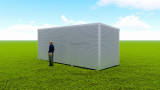Basic backyard pod kit 2.5m x 7m flat-pack