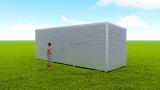 Basic backyard pod kit 2.5m x 8m flat-pack
