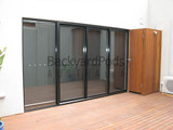 Double-glazed sliding stacker door 2145mm x 3600mm + lock/keys + reveal + LH/RH/colour options