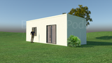 BOAMBEE prefab studio with ensuite, living, and kitchenette 3m x 9m from Backyard Pods Australia - FRONT ANGLE