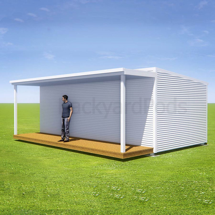 Basic deck/veranda kit 1.5m x 7m flat-pack