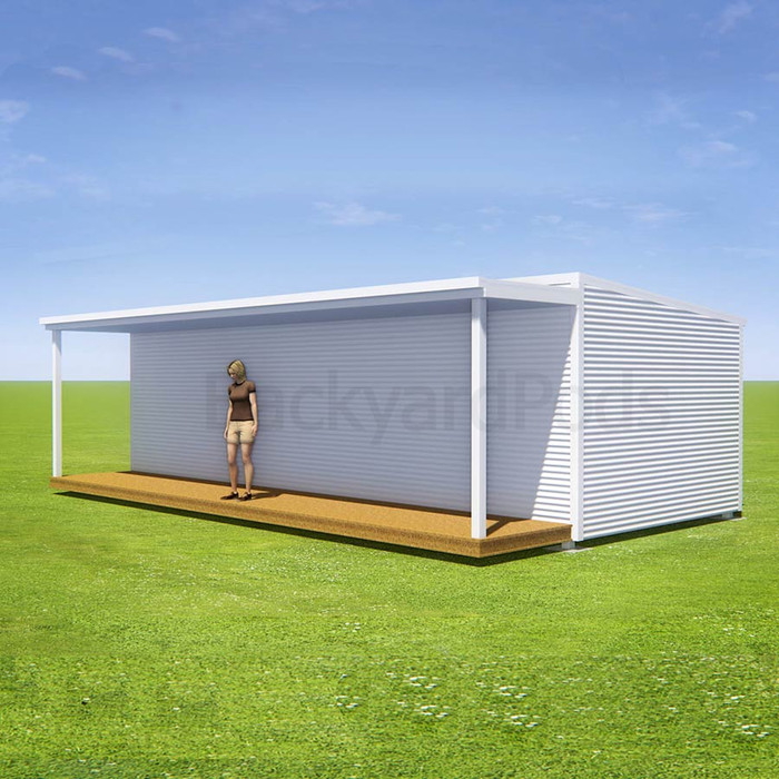 Basic deck/veranda kit 1.5m x 9m flat-pack