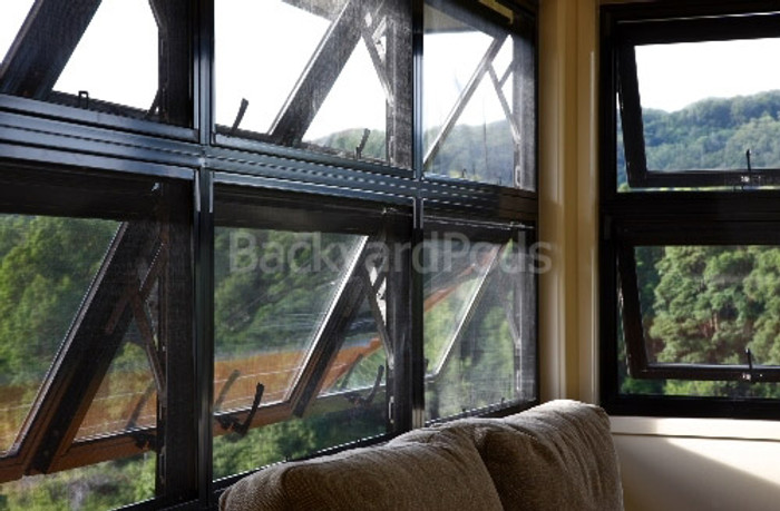 Double-glazed window combo A - 1800mm x 600mm + lock/keys + reveal + colour/flyscreen/frosting options
