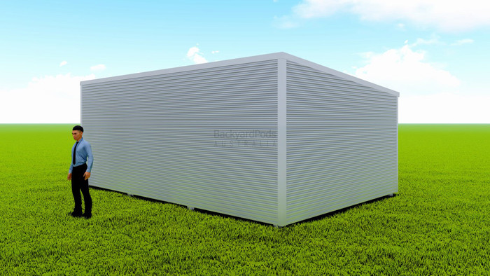 Basic backyard pod kit 4.5m x 7m flat-pack