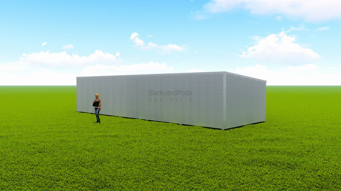 Basic backyard pod kit 4.5m x 14m flat-pack