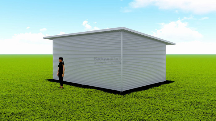 Basic backyard pod kit 4.5m x 6m flat-pack with eaves