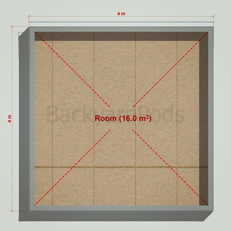 Basic backyard pod kit 4m x 4m flat-pack