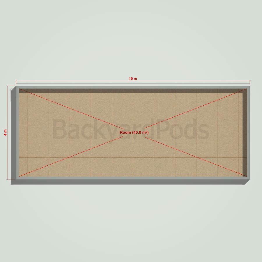 Basic backyard pod kit 4m x 10m flat-pack