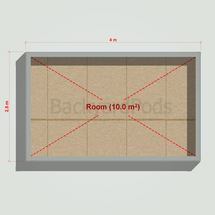 Basic backyard pod kit 2.5m x 4m flat-pack